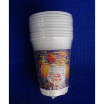 code 073421- Paper tumbler Clowns  - set of 10