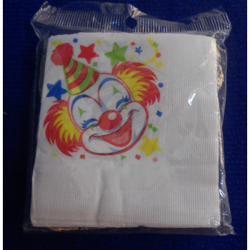 code 073422- Paper napkin Clowns  - set of 20