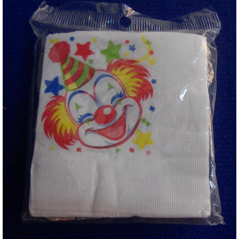 ref.073422- Guardanapo de papel Palhaços- conjunto de 20