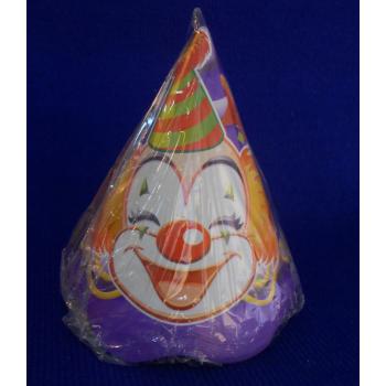 ref.073424- Chapéu de papel Palhaços - conjunto de 10