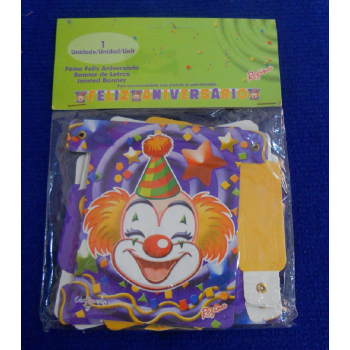 code 073427-  Celebration Banner Clowns