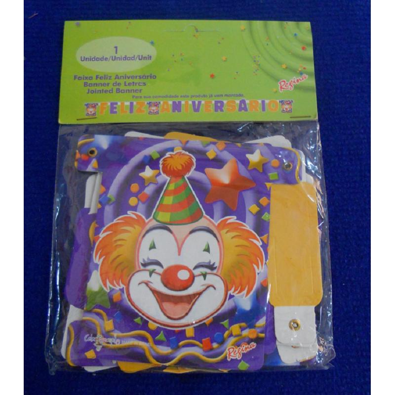 code 073427-  Celebration Banner Clowns