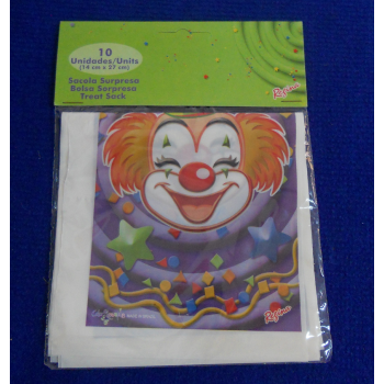 code 073425-  Surprise bag Clowns - set of 10