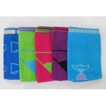 code 050450AZ/52VE/52RP/52ER/53AT- 5P kitchen terry towel set - D