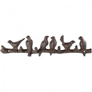 ref.DCT-LH243 - Cabide em ferro - 6 Pássaros num ramo