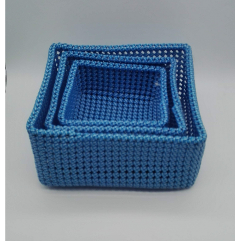 code 039806-Storage bathroom basket - set of 3