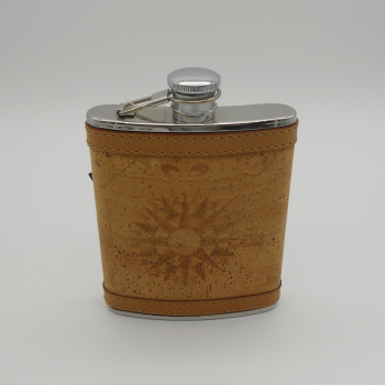 code 071809 - Leather cork hip flask - large