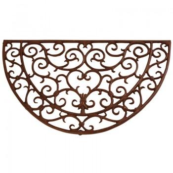 Code DCT-LH37 - Cast iron half round doormat