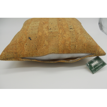 Code 071214 - 45 cm Cork leather cushion  - zip