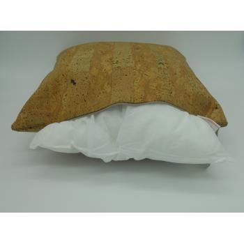 ref.071214 - Almofada 45 cm em pele de cortiça- zip e enchimento