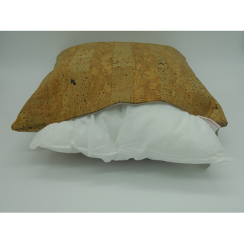 Code 071214 - 45 cm Cork leather cushion - zip znd filling