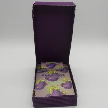 ref.048025-AU/29-AU - Mini conjunto de banho gift - aubergine