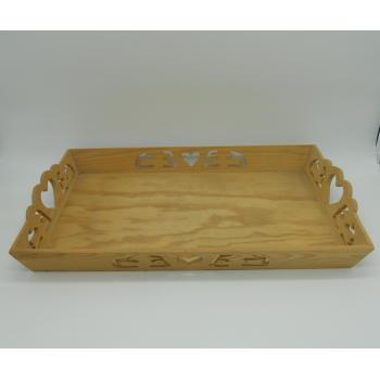 code 070369 -  Wood tray - Birds
