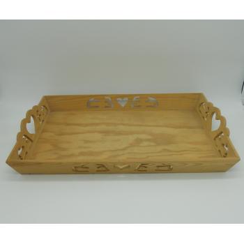 code 070369 -  Wood tray - Birds