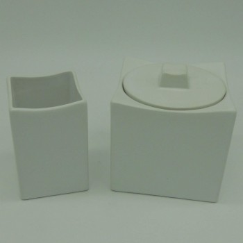Code 036802/03 - White ceramics bathroom duo
