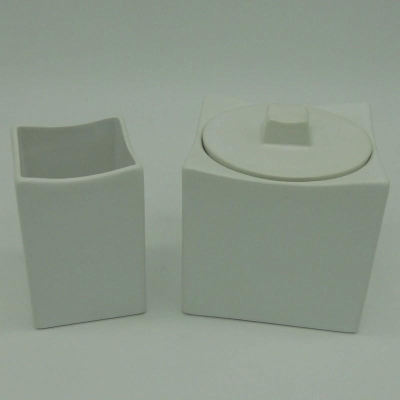 Code 036802/03 - White ceramics bathroom duo