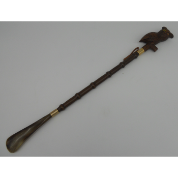 code 037801-Long handled shoe horn - owl