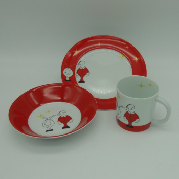 code 500007-Children dinner set Santa and Donner