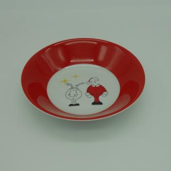 ref.500007- Serviço de bébé -  Santa e Donner-taça cereais ou sopa