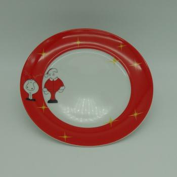 code 500007-Children dinner set Santa and Donner-plate