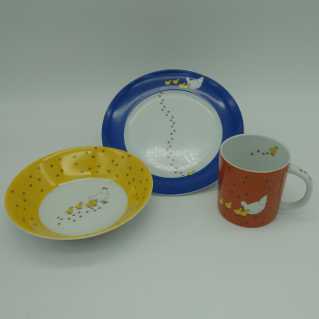 "code 500006-Baby dinner set - ""Pica no Chão""/""Pecking chicken"""