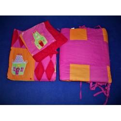 ref.050018 - Conjunto de cama de grades circo rosa