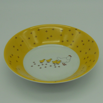 "code 500006-Baby dinner set - ""Pica no Chão""/""Pecking chicken""-cereal bowl or soupe"