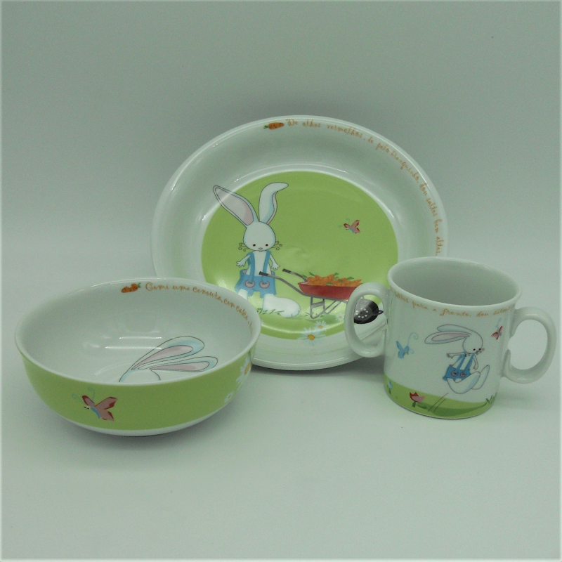 "code 500030-Baby dinner set - O coelhinho/"" The Rabbit"""