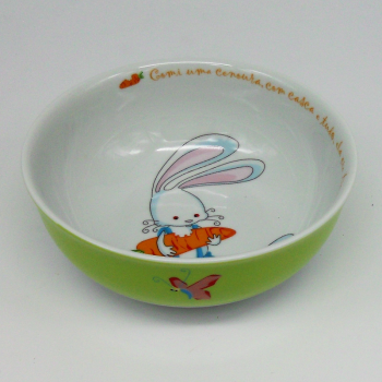 "code 500030-Baby dinner set - O coelhinho/"" The Rabbit""-cereal bowl or soup"