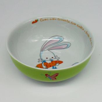 ref.500030-Serviço de bébé - O coelhinho-Taça cereais ou sopa