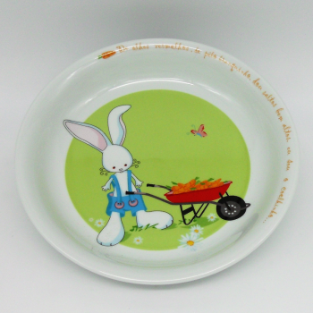 "code 500030-Baby dinner set - O coelhinho/"" The Rabbit""-plate"