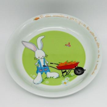 ref.500030-Serviço de bébé - O coelhinho-prato