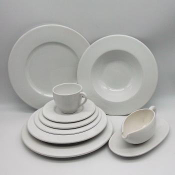 ref.800496-Conjunto de jantar para 4 P - branco liso (2ª escolha)