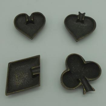 ref.034013-OXI-Cinzeiros às oxidado- conjunto de 4 (oxidados sortidos)