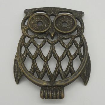 code 034019-OXI - Trivet - Owl (oxidized)
