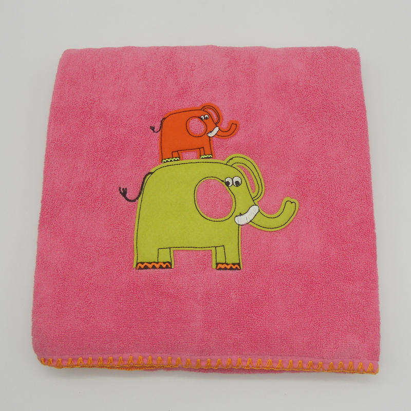 ref. 050009-LBB-RP - Toalha de banho 70x140 - elefante - rosa pink