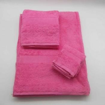 code 050200-3A-NC-3 Pc Bath towel set - Almonda - Pink