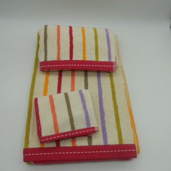 code 050220- 3B-EF-3 Pc Bath towel set - Transat B40