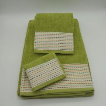 code 050221-3B-DF-3 Pc B Bath towel set - Pointillé B41 - DF