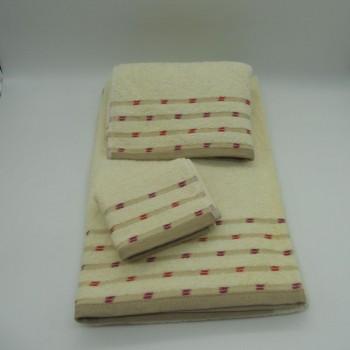 code 050222-3B-FR-Bath towel set-3B-FR Ikat B27