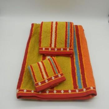 code 050223-3B-JD-3 pçs B Bath towel set - Méridienne C44 - JD