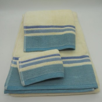 code 050225-3A-ZC-3 Pc Bath towel set - Plissé