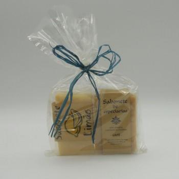 ref.048051/52-Sabonete chá limão e gengibre e sabonete chá calendula