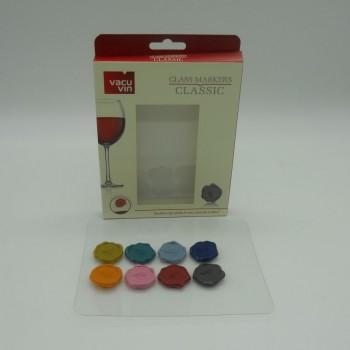 ref.039036-Tampão de vácuo para vinho  - conjunto de 3 coloridos
