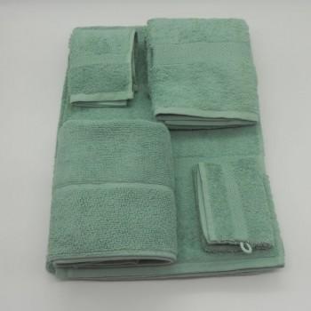 code 050260-WZ -  3 Pc A Bath towel set with bathmit and matching bathmat