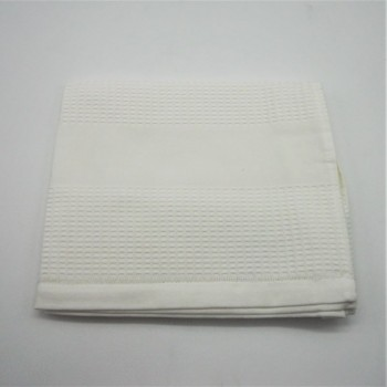 code: 050800-BR - Waffle 50x100 face towel - white