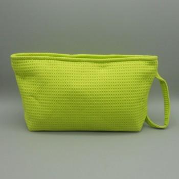 ref.050809-VP - Bolsa de toilette em piqué  - E - verde pistachio