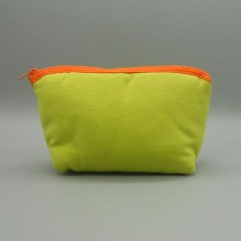 ref.050805-VP-LA - Bolsa de toilette em algodão - lequinho - verde pistachio