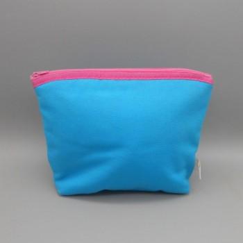 """ref.050804-AZ-RP - Bolsa de toilette em algodão - """"leque"""" - azul turquesa"""