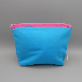"code 050804-AZ-RP - Cotton toilet purse - ""fan"" - turquoise blue"